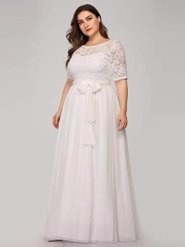 Ever-Pretty Robe De Soirée Femme Mère De Mariage Longue tout Robe Pour Mariage Invité Grande Taille