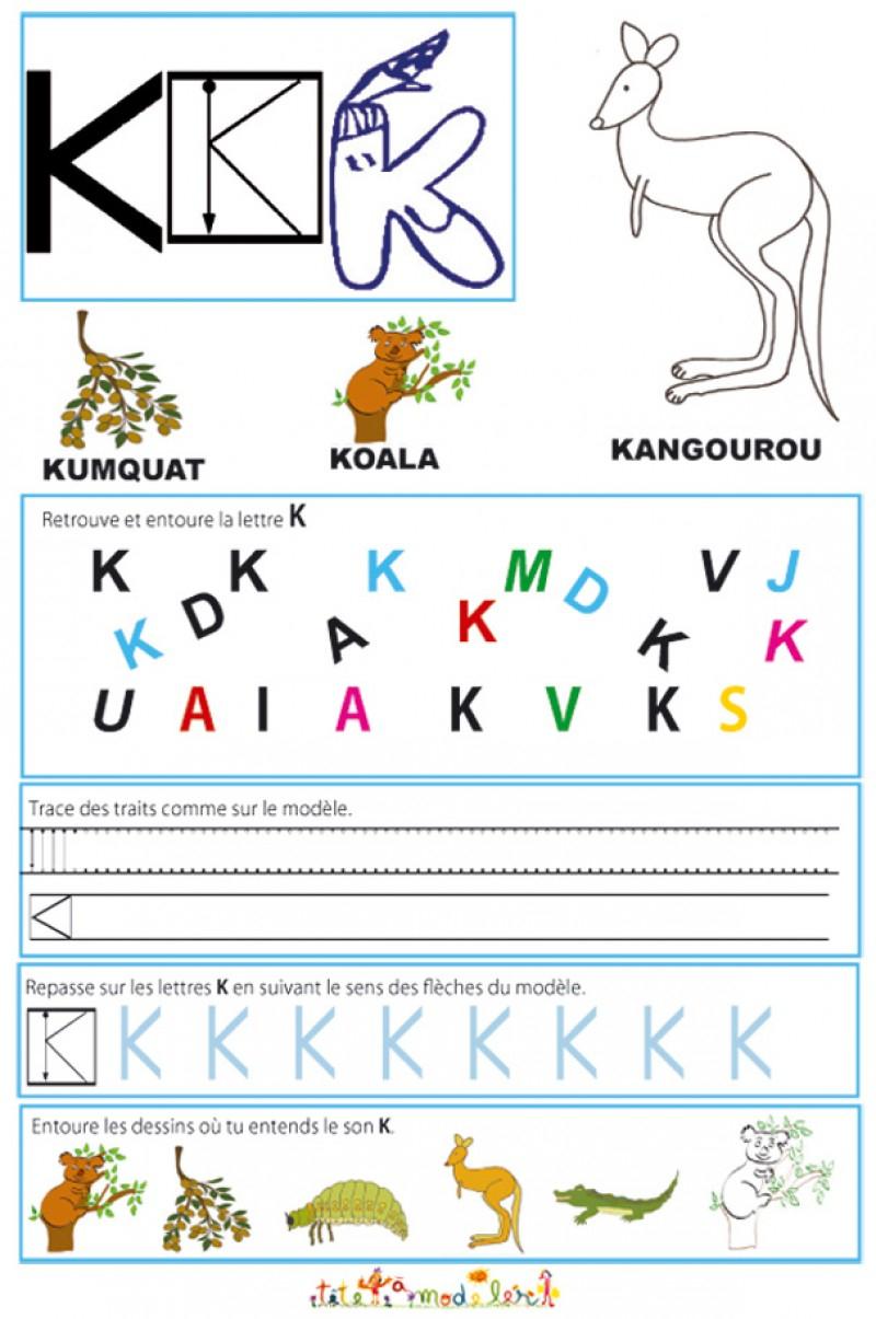 Exercice Alphabet Grande Section Maternelle - Photos pour Apprendre A Ecrire Gratuit