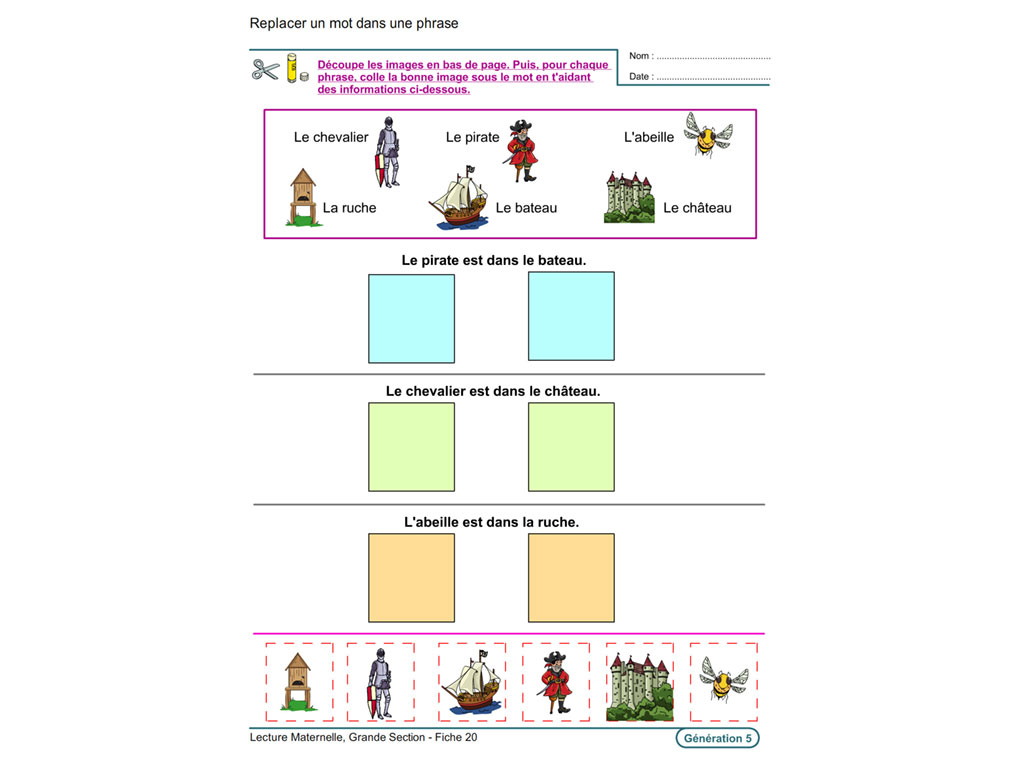 Exercice De Lecture Maternelle Grande Section - Primanyc destiné Exercice De Lecture Maternelle Grande Section
