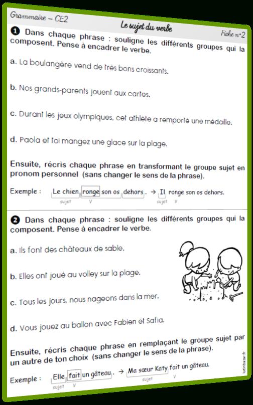 Exercices De Grammaire Ce2 - Lutin Bazar tout Exercices Ce2 À Imprimer