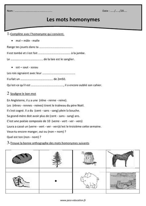 Exercices Homonymes Cm1 À Imprimer, Dans Notre Rubrique concernant Exercice Cm1 Gratuit