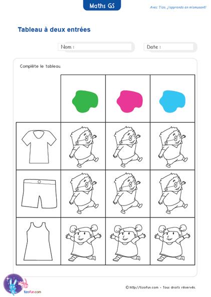 Exercices Maths Gs Maternelle Grande Section Jeux Fiches intérieur Maths Maternelle Gs