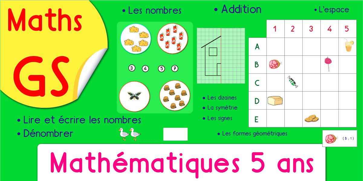 Exercices Maths Gs Maternelle Grande Section Jeux Fiches Pdf avec Jeux Gratuit Maternelle Petite Section
