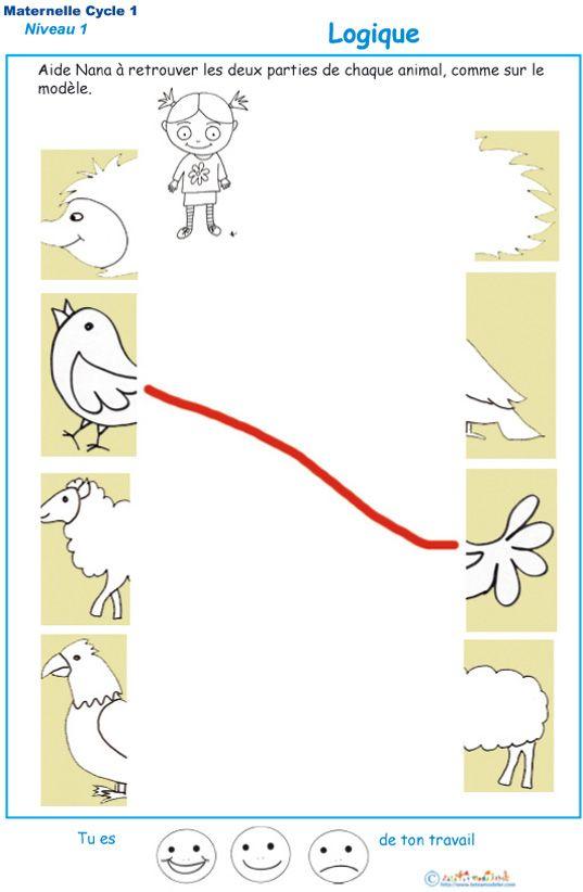 Exercices Pour Développer La Logique À La Maternelle dedans Exercice De Maternelle A Imprimer Gratuit