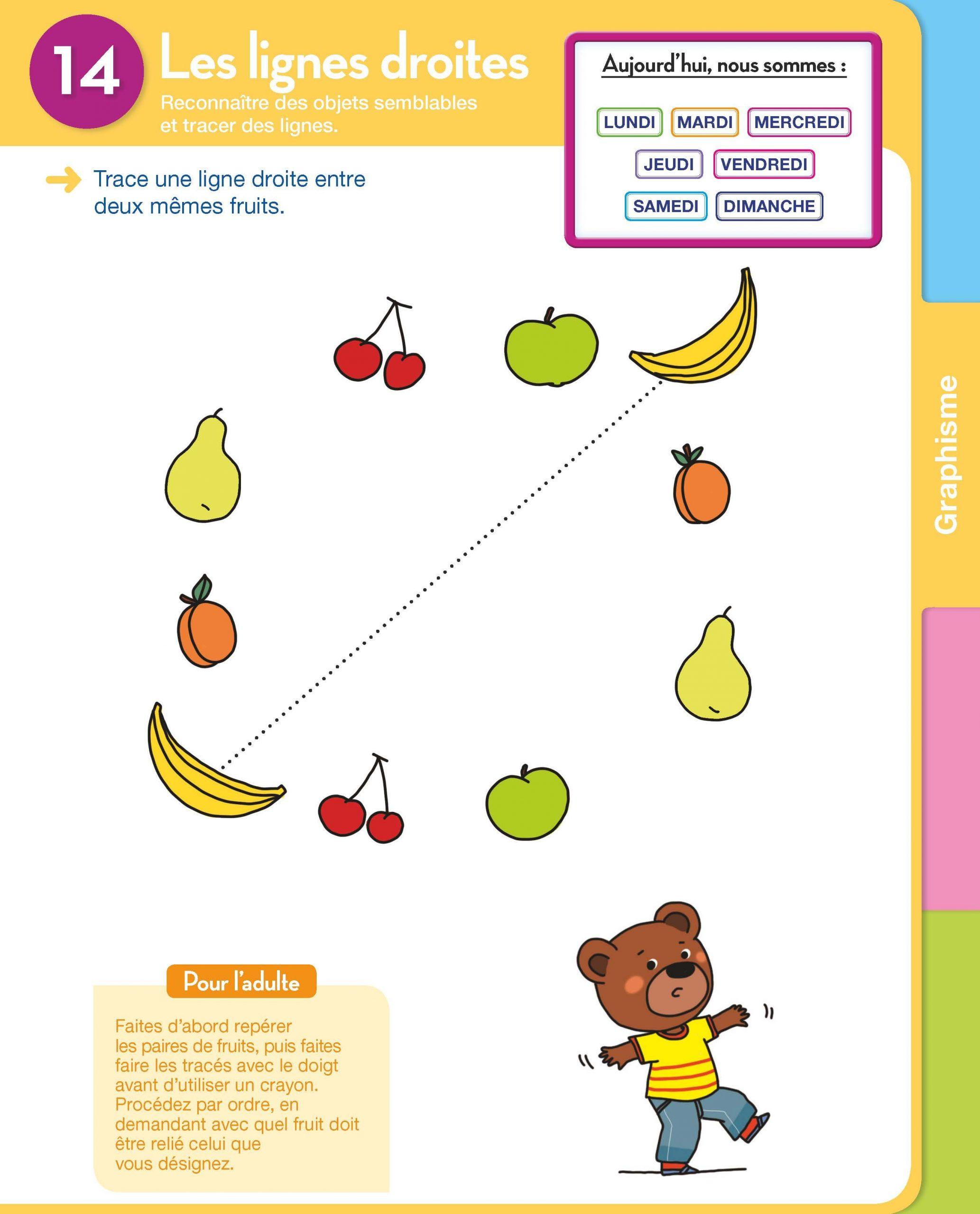 Extrait Graphisme : Les Lignes Droites Toute Ma Maternelle à Jeux Enfant 3 Ans En Ligne