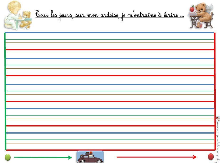 Fabriquer Des Ardoises Effaçable-Ecriture-Dyspraxie-Lignes serapportantà Feuille De Couleur A Imprimer Gratuit