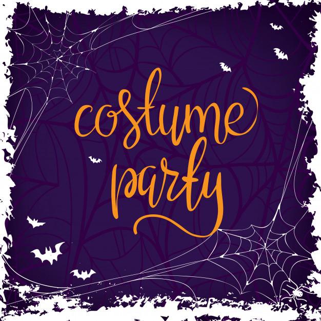 Fête Costumée - Halloween Fête Phrase De Lettrage Dessiné pour Phrase D Halloween