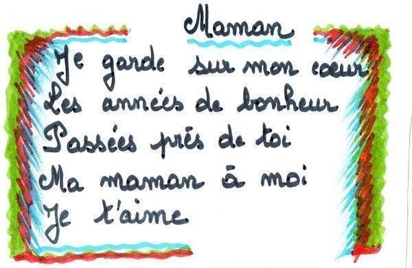 Fete Des Mamans serapportantà Court Poeme