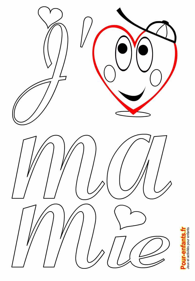Fête Des Mamies Grands Mères Coloriage À Imprimer Amour De tout Coloriage Pour La Maitresse