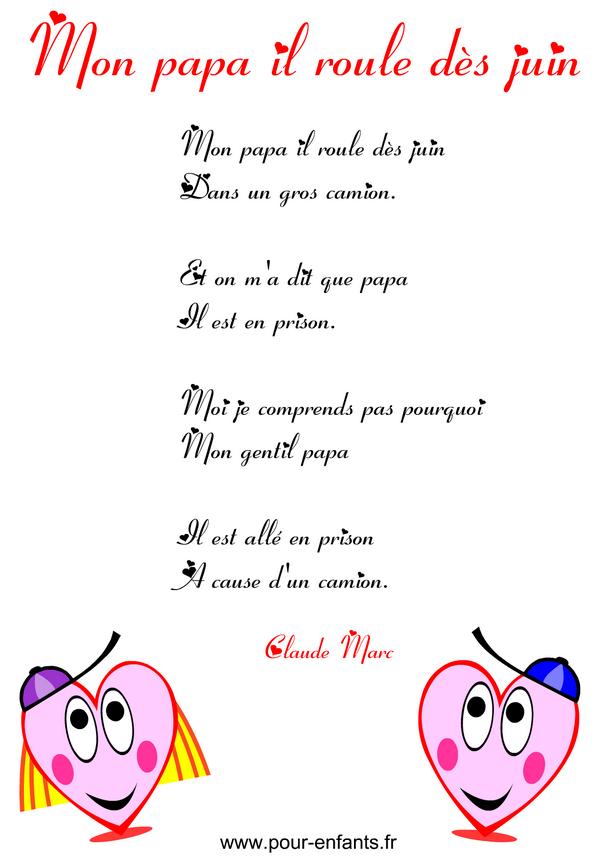 Fête Des Pères   Poème Humoristique À Imprimer En Images tout Poème Fête Des Pères Maternelle