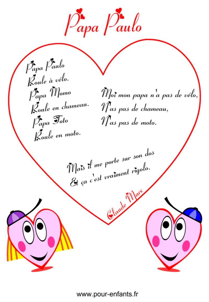 Fetes Des Peres à Poeme Pour Papa De Coeur