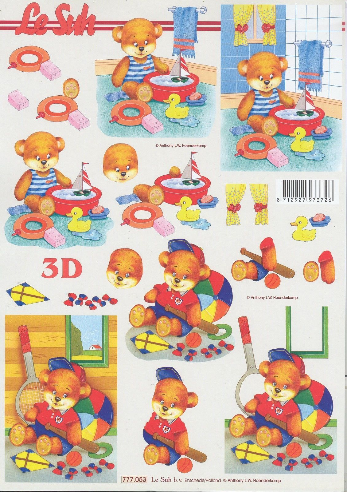 Feuille 3D À Découper A4 - Enfant Nounours - 777.053 concernant Decoupage Pour Enfant