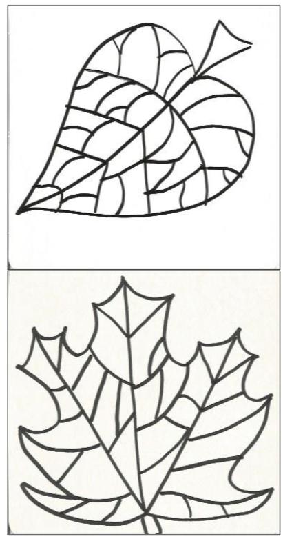 Feuilles D'Automne Graphiques Cycle 2 | Bricolage Automne à Coloriage Environnement