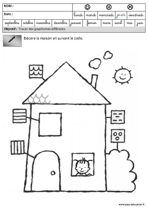 Fiches Pédagogiques - Exercices - Graphisme - Maternelle à Rentrée En Grande Section