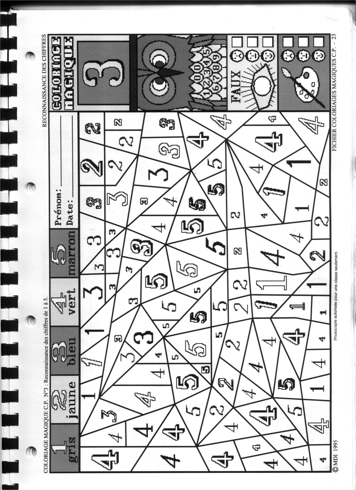 Fichier Mdi Coloriage Magique Fichier Coloriage Magique Cp concernant Coloriage Magique Mdi