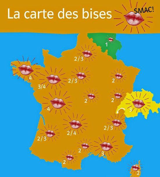Fle En Eso: Bises  Mais Combien De Bises ? | Fle pour Combien De Departement En France