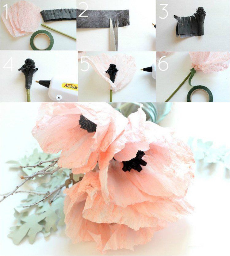 Fleur En Papier Facile À Faire - 10 Idées Et Tutoriels à Comment Faire Une Rose Avec Du Papier