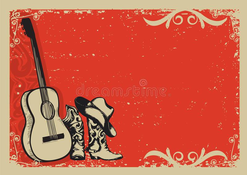 Fond De Festival De Musique Country Avec Le Texte Vieille serapportantà Cowboy Musique