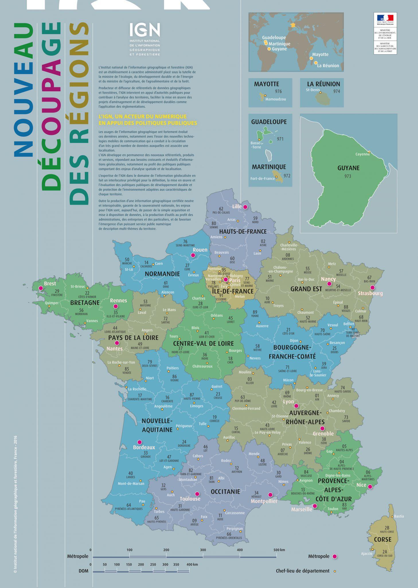 Fonds De Cartes   Éducation Intérieur Le Découpage encequiconcerne Le Découpage Administratif De La France Ce2