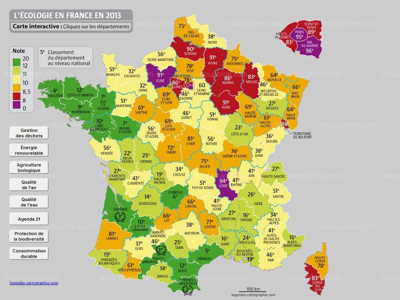 France-Monde   Découvrez Le Classement Des Départements dedans Listes Des Départements De France