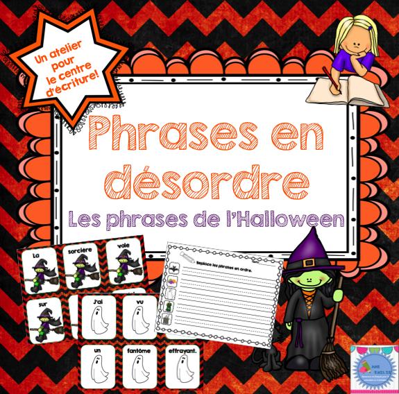 French {Halloween} Scrambled Sentences/Phrases En Désordre destiné Phrase D Halloween
