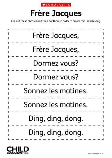 Frere Jacques Lyrics   Frère Jacques - French Song Lyrics pour Frere Jacque Parole