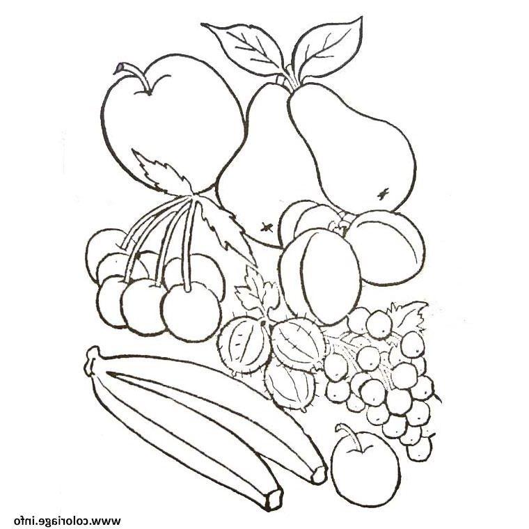 Fruits Et Legumes D Automne Coloriage In 2020   Fruit serapportantà Dessin Fruits D Automne