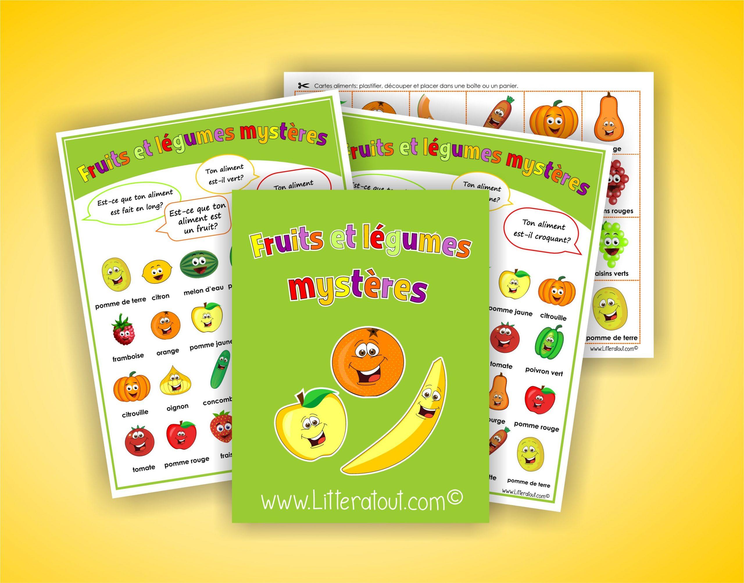 Fruits Et Légumes Mystères Cette Activité De Communication encequiconcerne Fruits Et Legumes Vocabulaire