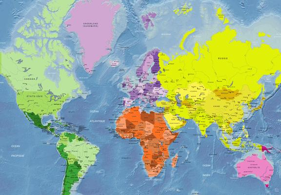 Geografía 3º Eso: Carte Du Monde avec Jeux De Carte Geographique Du Monde