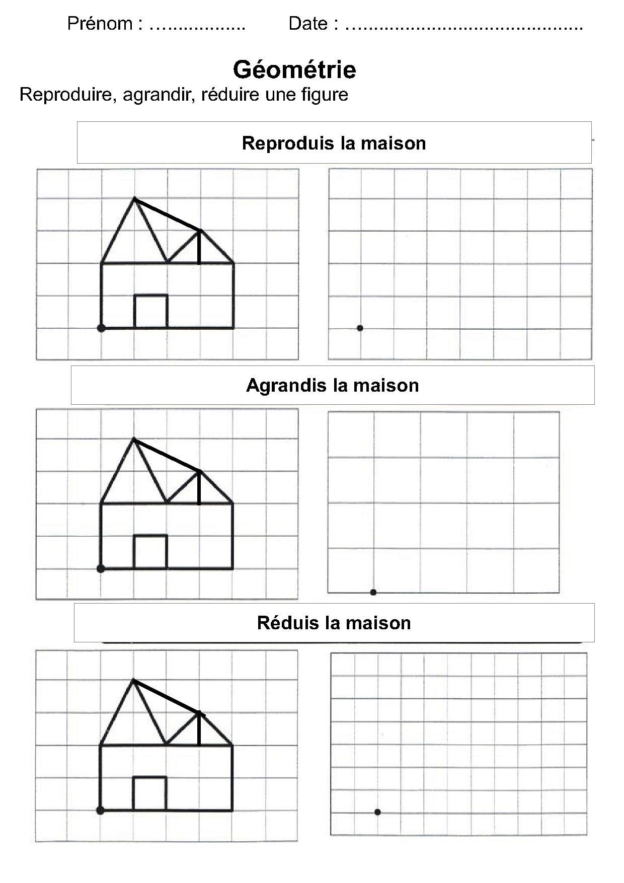 Géométrie Ce1,Ce2,La Symétrie,Reproduire Une Figure tout Figures Géométriques Ce1