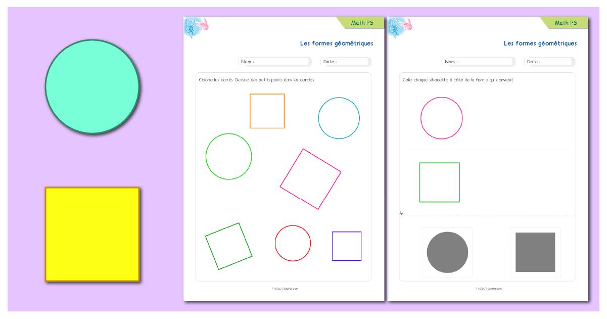 Géométrie: Rond Et Carré | Pdf Mathématiques Petite Section encequiconcerne Les Formes Geometrique