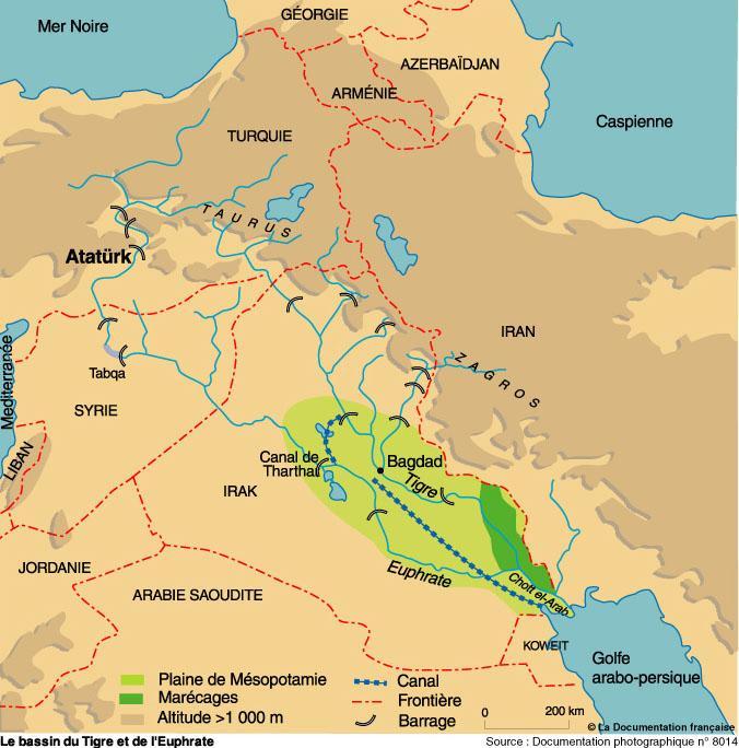 Géopolitique Des Barrages Turcs Sur Le Tigre Et L'Euphrate serapportantà Ou Se Trouve Le Nil