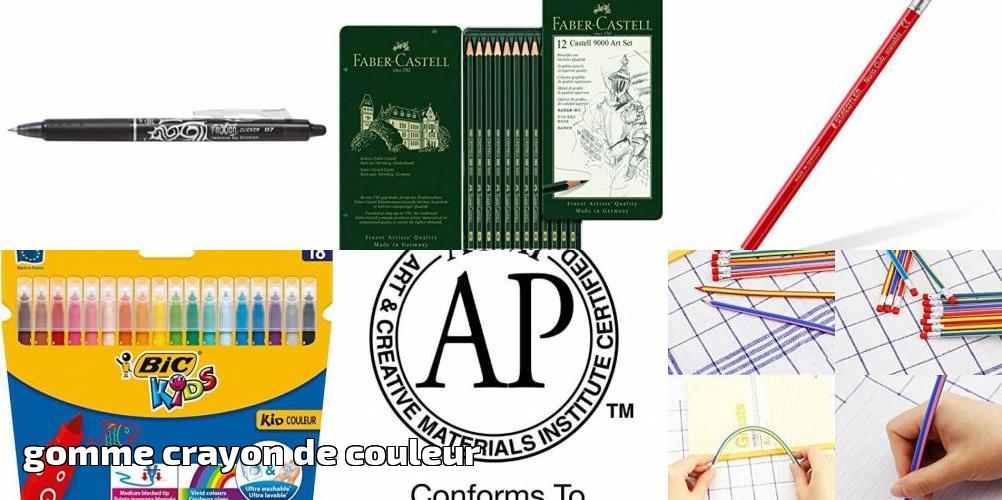 Gomme Crayon De Couleur : Faites Le Bon Choix Pour 2021 intérieur Poésie Crayon Gomme Ou Cahier