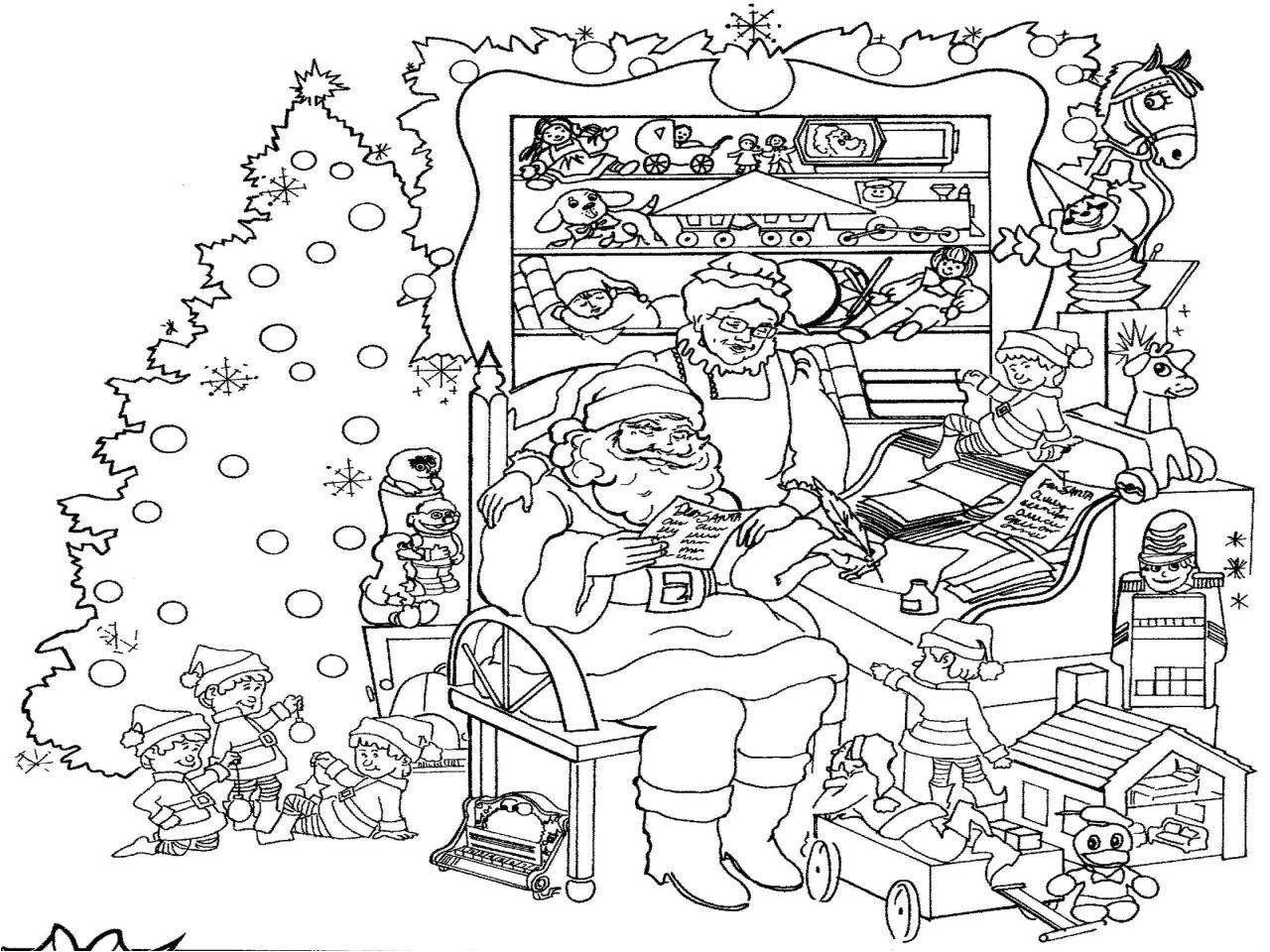 Grand Coloriage De Noel A Imprimer 15 Coloriage De Noel encequiconcerne Creche A Imprimer