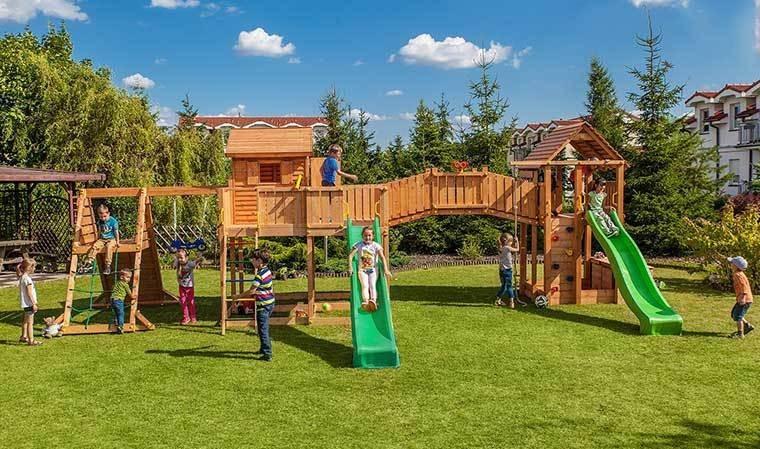 Grande Aire De Jeux De Jardin Pour Enfants En Bois Massif tout Jeux Pour Enfan