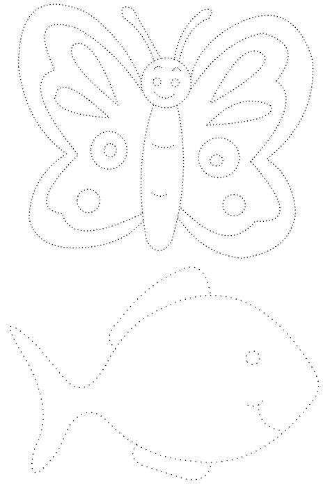 Graphisme 2 Dessins En Pointillés : Un Papillon Et Un avec Graphisme Papillon
