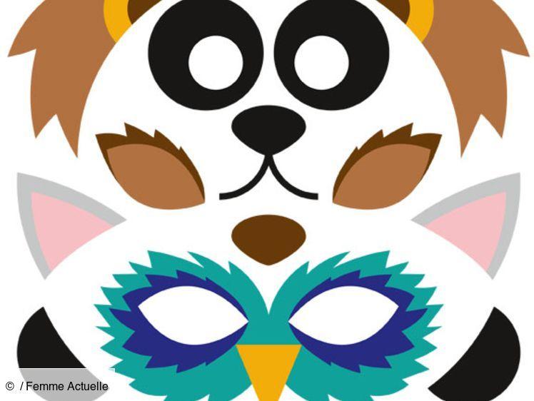 Gratuit : Des Masques D'Animaux À Imprimer En 2020 serapportantà Masque À Imprimer Animaux
