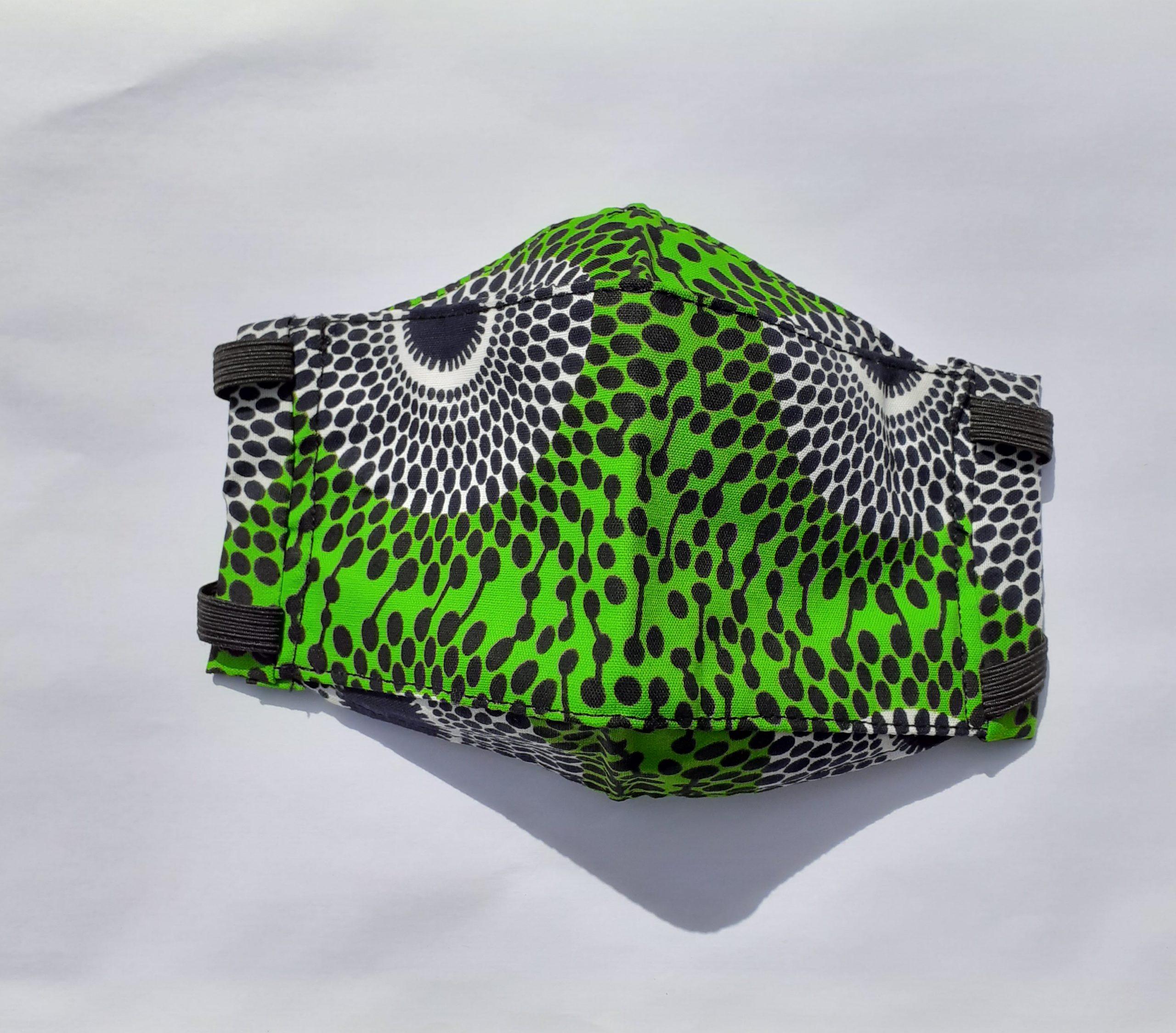 Green & White Origami Face Mask - Wakuda destiné Masque Origami