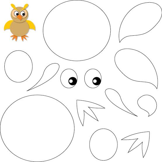 Hibou À Découper   Activité Manuelle Hibou, Coloriage, Le tout Découpage Collage Maternelle À Imprimer