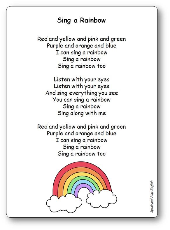 I Can Sing A Rainbow - Paroles De La Chanson En Anglais Et serapportantà Parole De Musique En Anglais