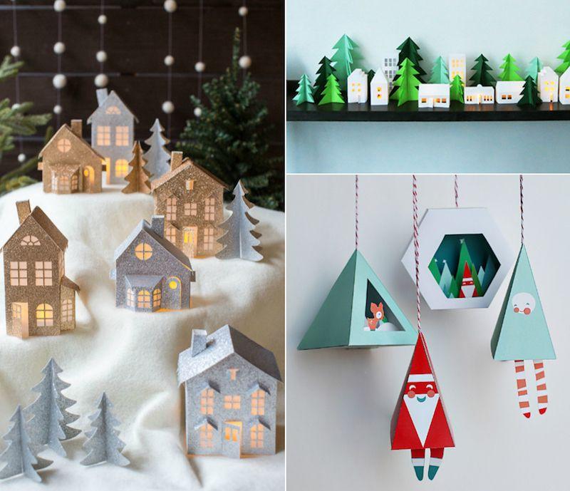 Idées Originales De Décoration De Noël À Fabriquer En tout Idee De Noel A Fabriquer