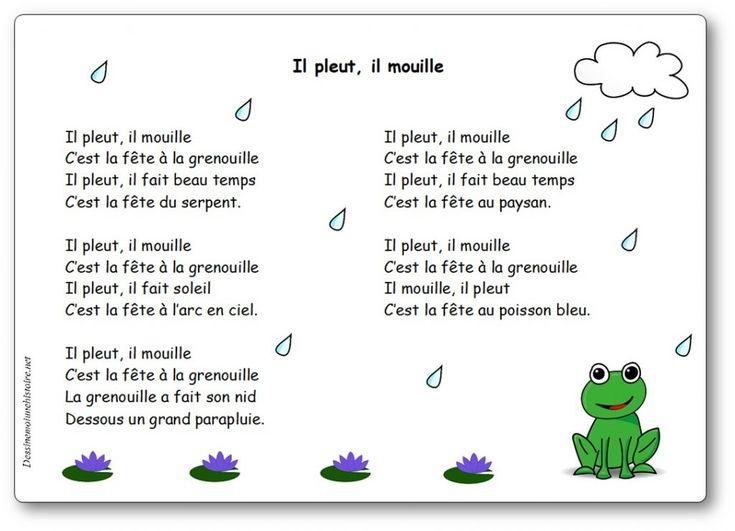 Il Pleut, Il Mouille C'Est La Fête À La Grenouille avec Il Est Mouillé