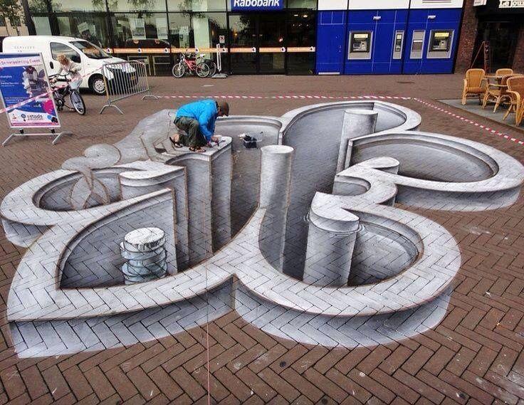 Illusions D'Optique Et Trompe-L'Oeil   Straßenkunst dedans Trompe L Oeil Illusion D Optique
