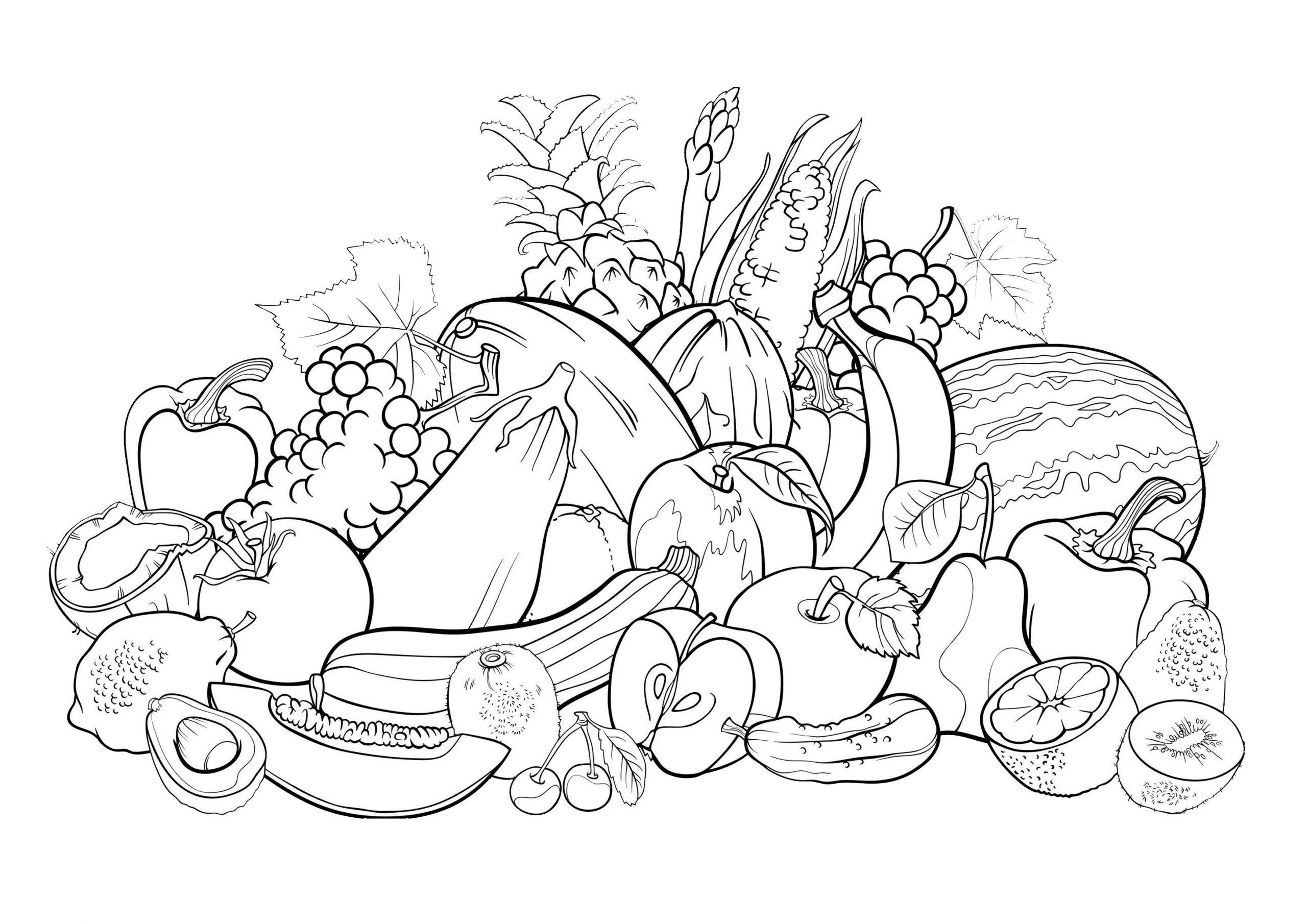 Image Coloriage Salade De Fruits - Free To Print serapportantà Dessin Fruits D Automne