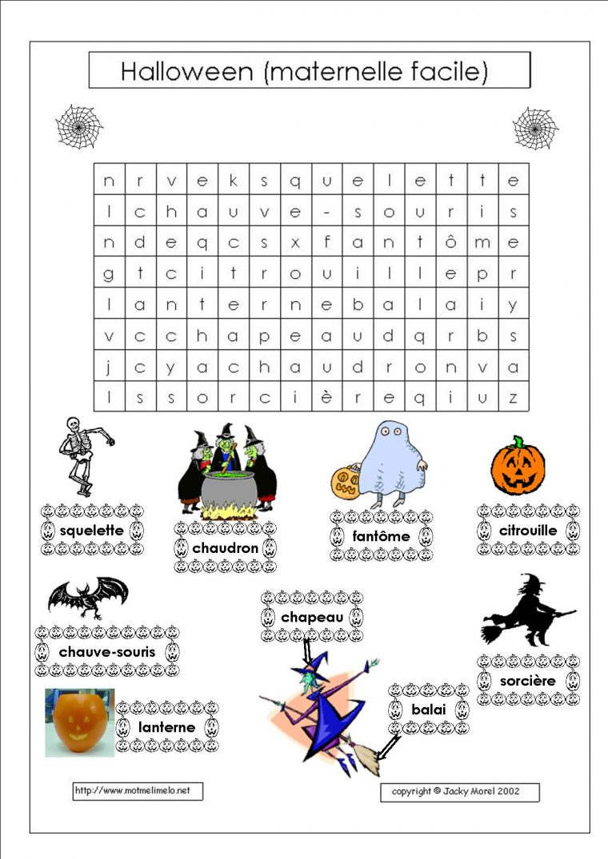 Impressions De L'Halloween   Fêtes   La Pomme Verte pour Mots Croisés Gratuits À Imprimer Cycle 3