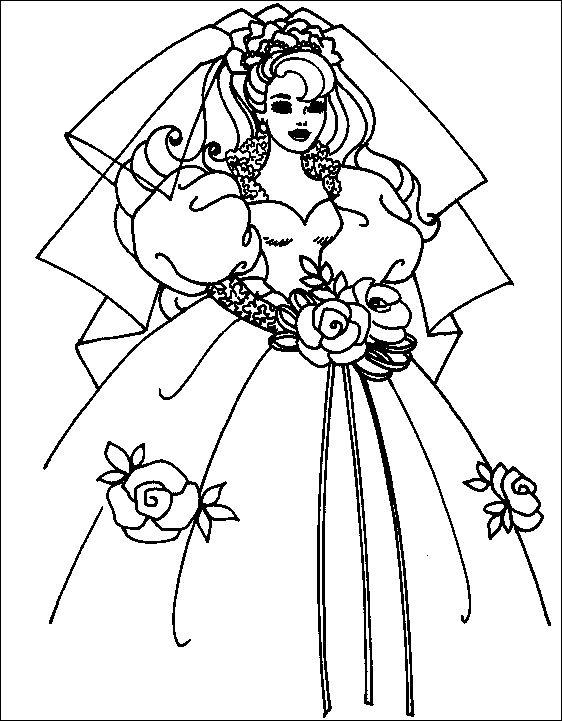 Imprime Le Dessin À Colorier De Mariage encequiconcerne Coloriage De Mariée