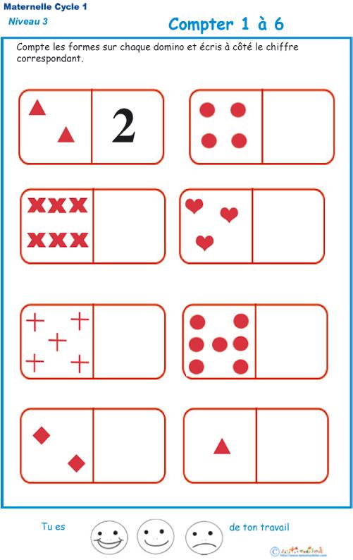 Imprimer L'Exercice 1 Sur Les Dominos. Maternelle Gs avec Maths Maternelle Gs