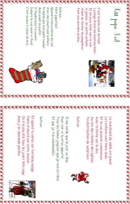 Imprimer Une Chanson Petit Papa Noël T Illustrée - Chanson concernant Petit Papa Noel Chanson Avec Parole