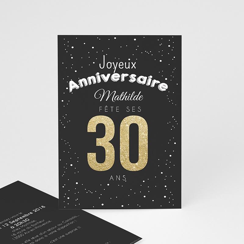 Invitation Anniversaire Adulte - 30 Ans Dorés   Carteland intérieur Invitation 35 Ans