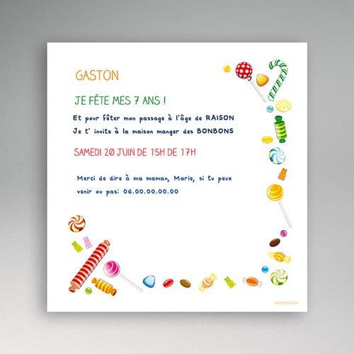 Invitation Anniversaire Garcon 7 Ans serapportantà Invitation Anniversaire Garçon 7 Ans